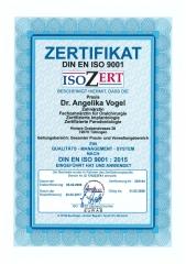 DIN EN ISO 9001 Qualitäts-Management-System