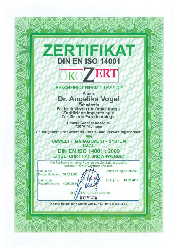 DIN EN ISO 14001 Umwelt-Management-System